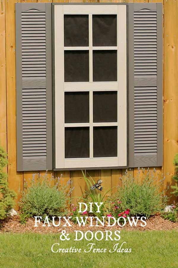 DIY Faux Windows and Door for Fences