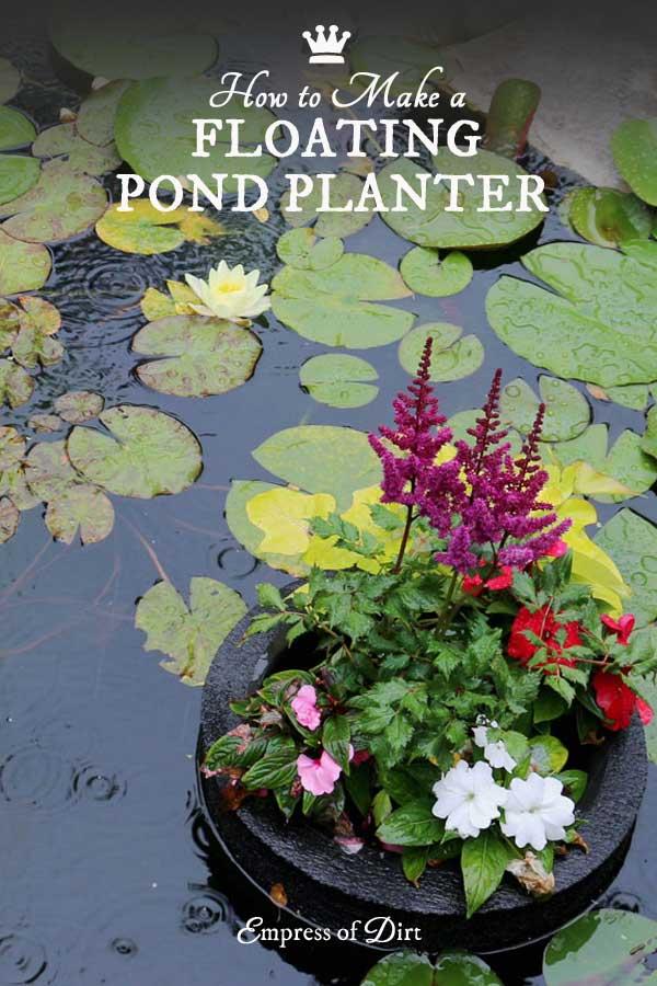 How to make a floating pond planter printable empress for Floating plant pots