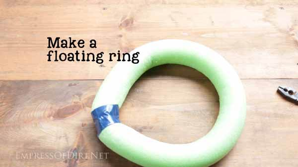 Ring made from pool noodle.