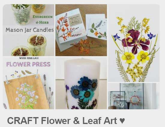 Empress of Dirt CRAFT Flower and Leaf Art Pinterest Board