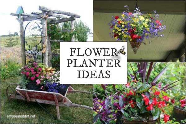 This gallery of flower planter ideas will give you plenty ideas for growing plants in containers in any size garden
