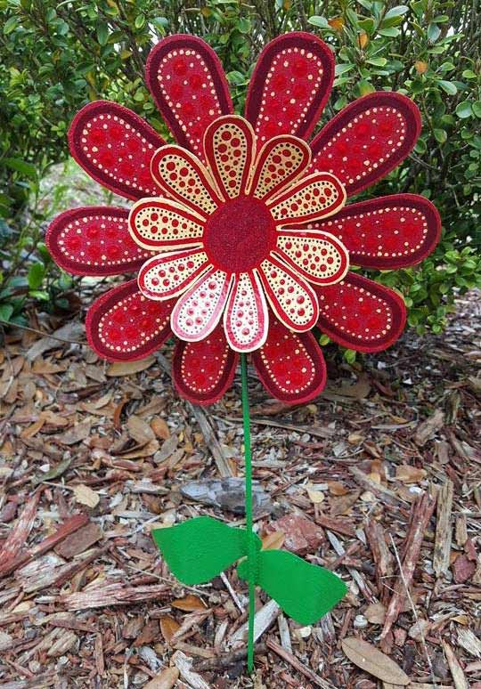 Red daisy by Flowerpowershowers on Etsy