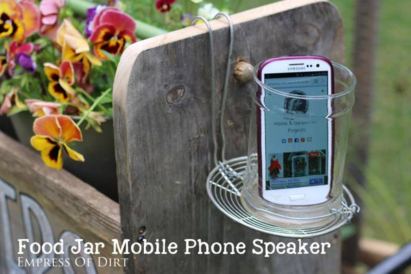 Food Jar Mobile Phone Speaker