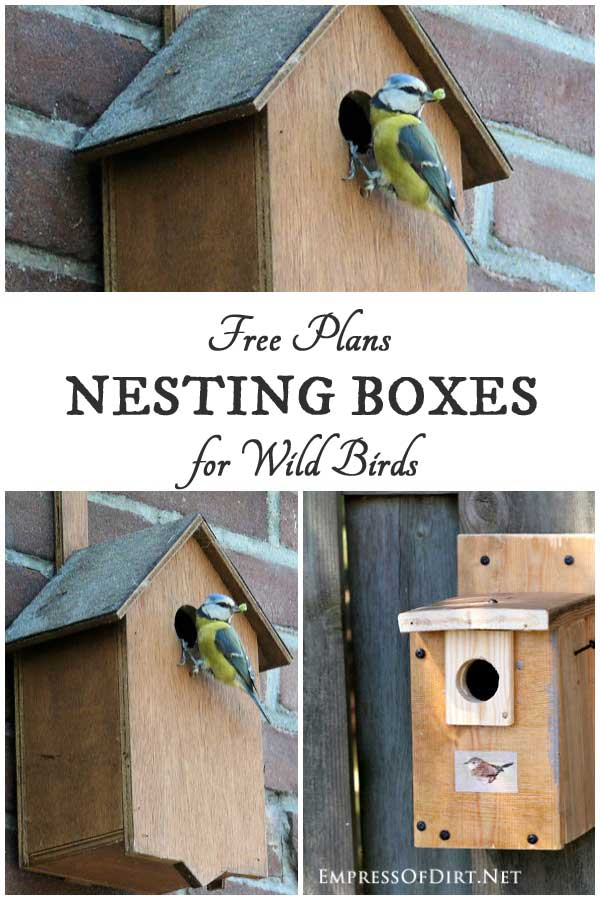 Nesting boxes, or birdhouses as they are often called, provide shelter for mated birds to raise their offspring. But, it's not one size fits all: each bird species has different housing needs. Check out the plans provided here and build to suit your favorite backyard bird.