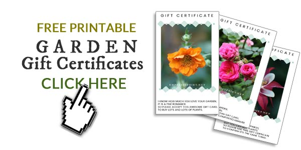 Free printable gift certificates to give to your favorite gardener.