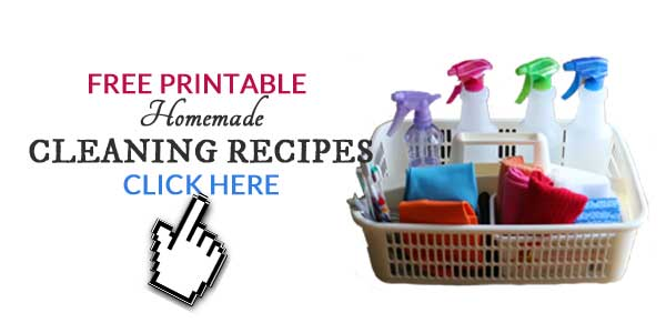 Free printable homemade cleaning recipes