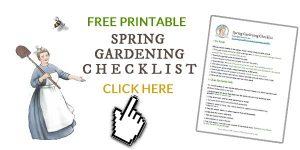 Free Spring Gardening Checklist.