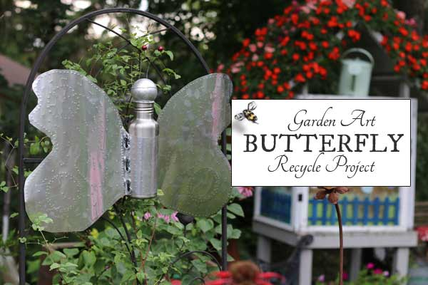 Garden Art Butterfly Recycled Project