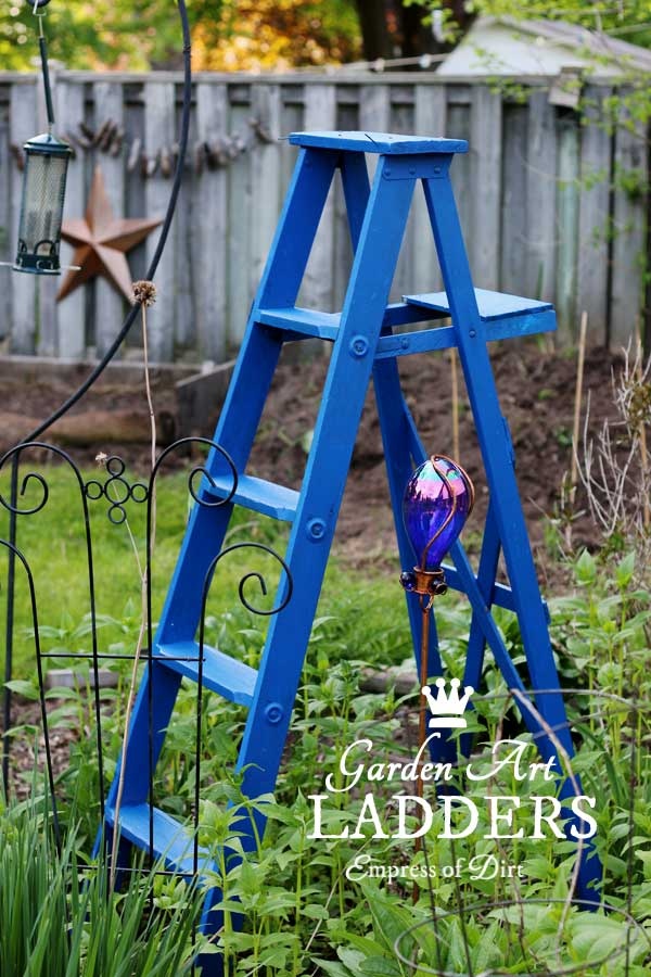 Ideas for using repurposed ladders in the garden