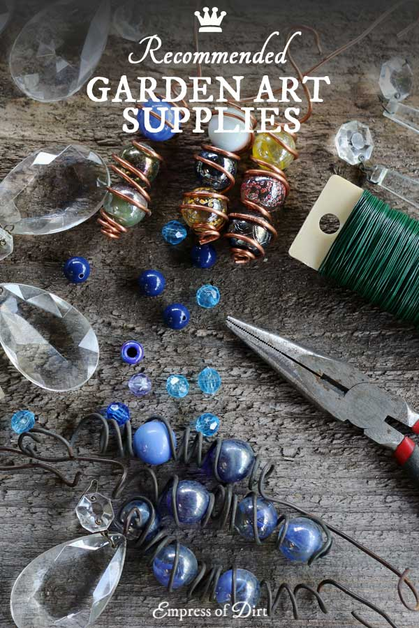 Recommended basic supplies for garden art-making.
