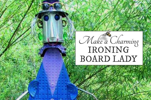 Ironing Board Garden Art Lady