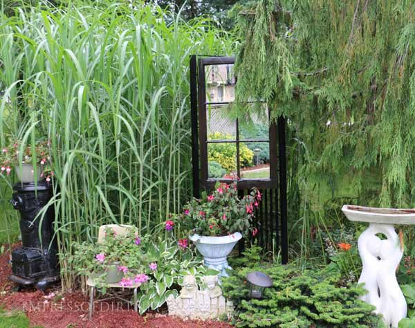 Create an outdoor display with your garden decor.