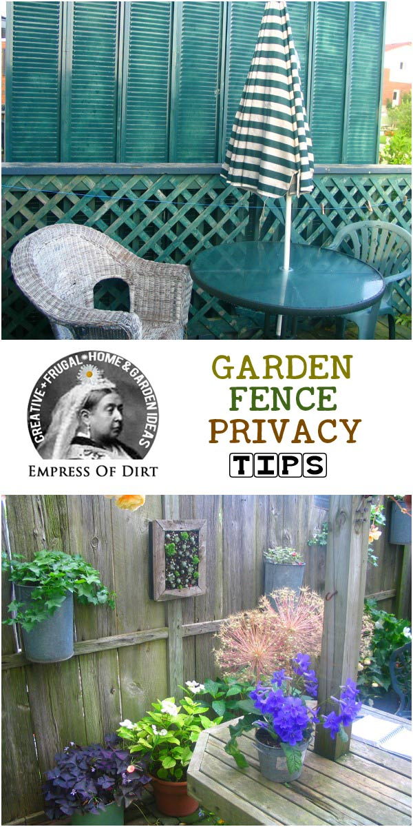 How to place a garden fence or screen for maxium privacy. This simple tip will get you the best results. Even a small screen can do a lot with proper placement.