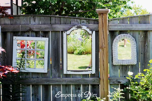 Mirrors as art in the garden