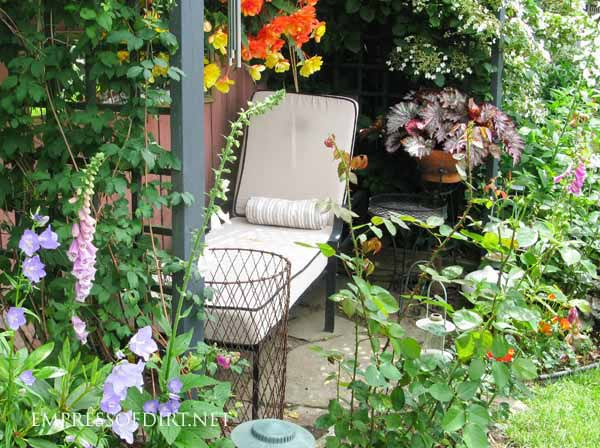 A good sleeping area is key for a great garden.