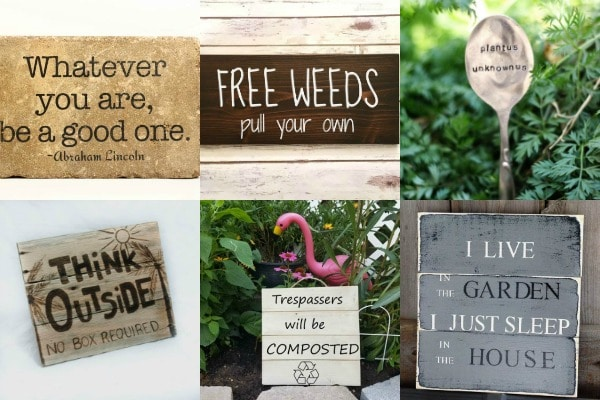 Favorite garden signs