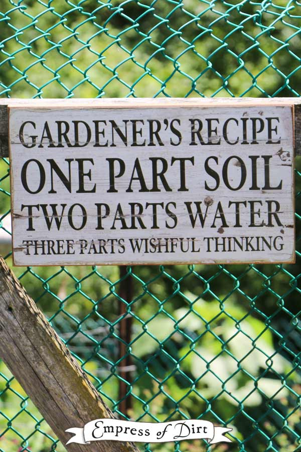 Gardener's recipe for success