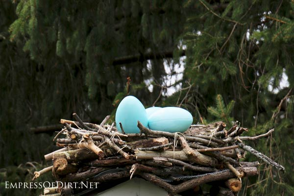 Diy Giant Garden Art Bird Nest Empress Of Dirt