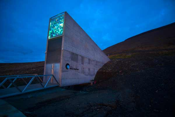 The Global Seed Vault in Svalbard, Norway