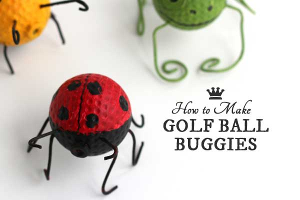 How to make golf ball buggies from old gof balls