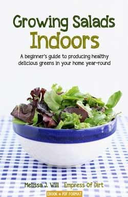 Growing Salads Indoors - an handy book for beginner indoor food growers.