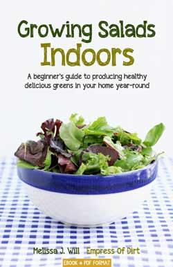 Growing Salads Indoors - an handy book for beginner indoor food growers.