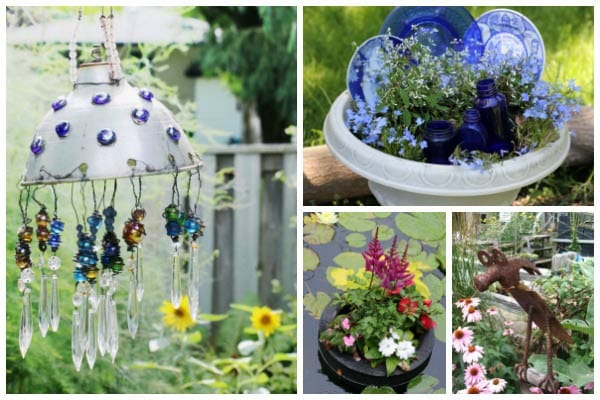 50 Creative + Recycled Garden Art Projects