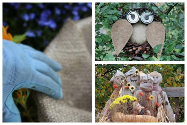 There are many smart and crafty ways to use burlap also called hessian and jute in the garden.