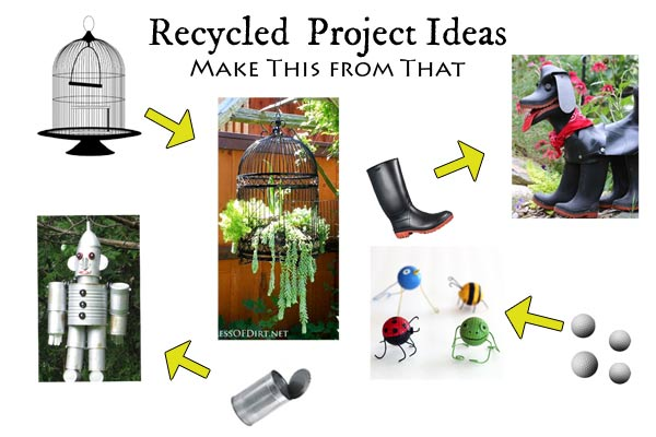Recycled DIY and Craft Project Idea Bank