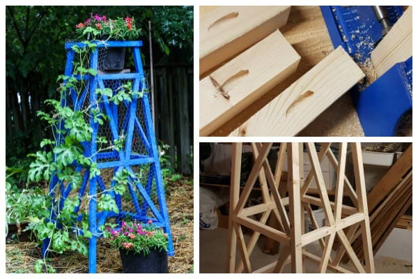 Make a Wood Garden Obelisk