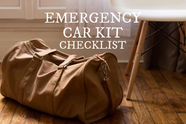 Emergency car kit checklist to print out and be prepared.