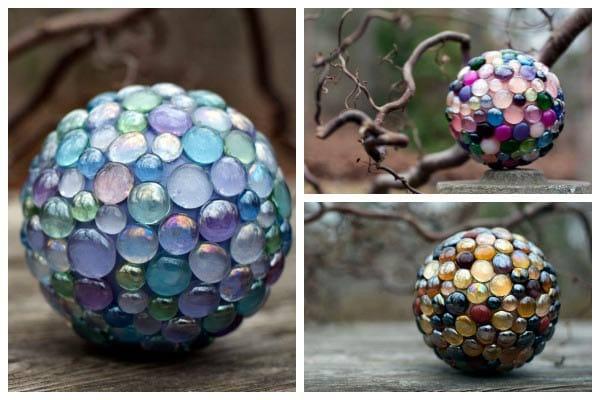 DIY Decorative Garden Art Ball Tutorial