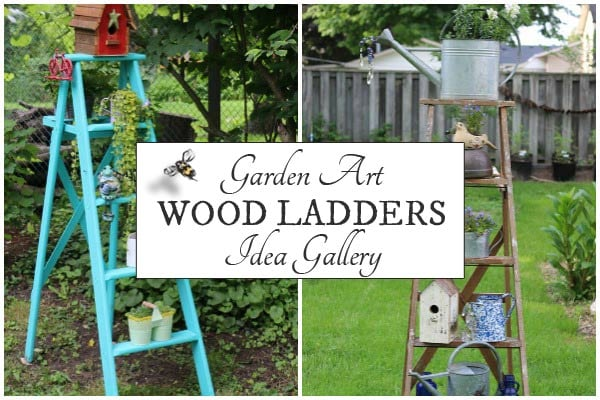 Wood Ladder Garden Art Ideas