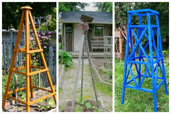 12 Creative Garden Obelisk Ideas
