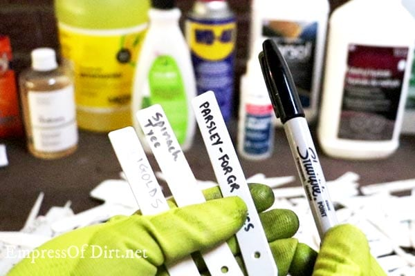 How to Remove Permanent Marker from Plastic Plant Tags