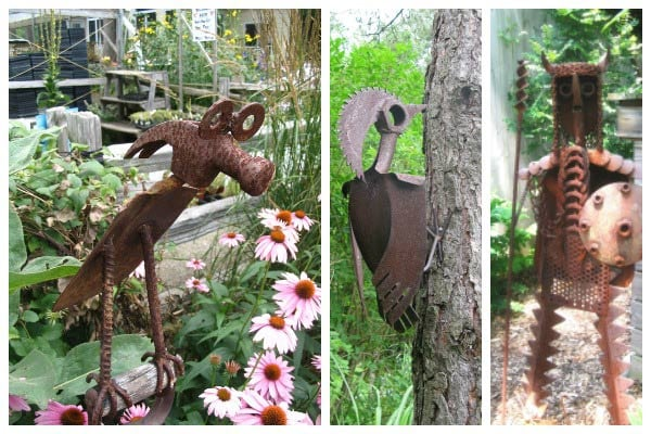 Rusty Tool Yard Art Animals