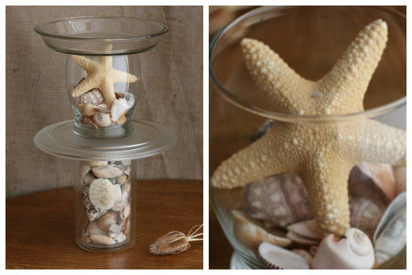 How to make seashell bird bath
