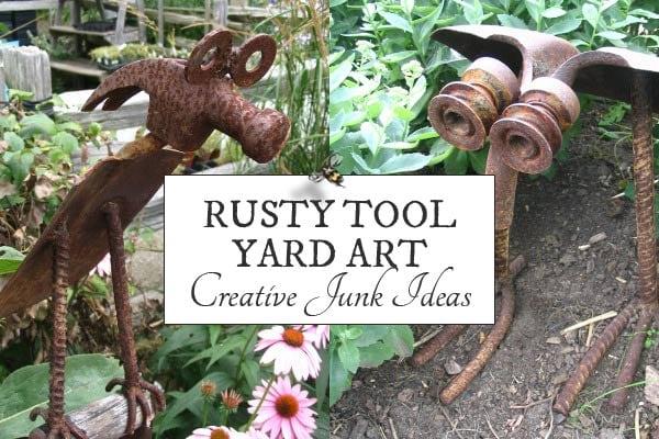 Rusty Tool Yard Art Animals
