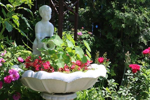 Create A Garden Art Birdbath Planter Empress Of Dirt