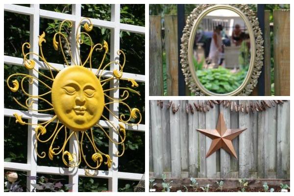 Creative ideas for garden fence and wall decor.