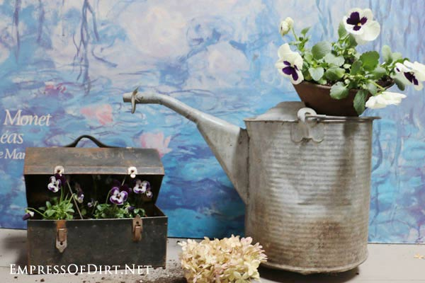 How to Make Garden Junk Flower Planters