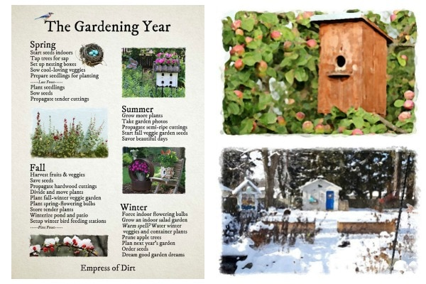 The Gardening Year Through the Seasons by Empress of Dirt