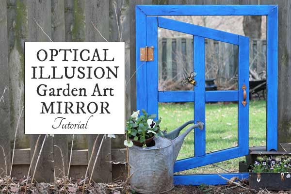 Optical Illusion Garden Art Mirror
