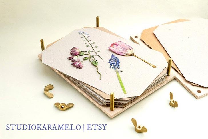 Flower press by StudioKaramelo on Etsy