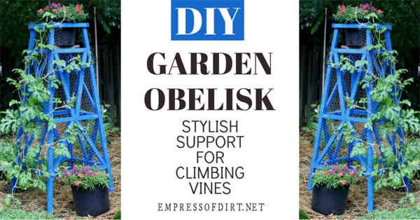 How to build a wood garden obelisk.