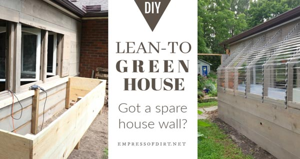 I Had Covered It In Screen And Wood Scraps A Few Years Ago Knowing I Would  Be Adding On A Greenhouse At ...