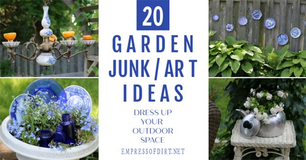 Garden junk art ideas hiding in your kitchen.