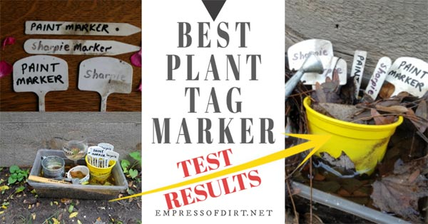 Testing plant tag markers for gardeners