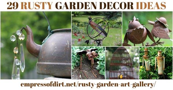 Rusty garden art.
