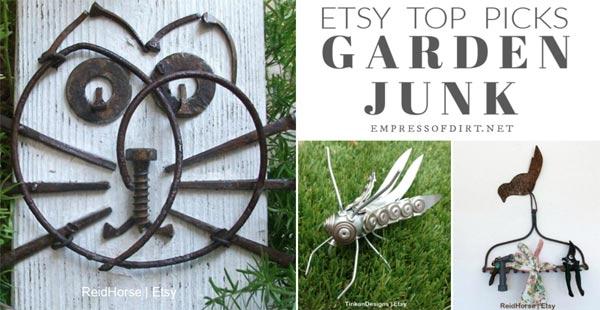 Garden junk ideas from Etsy.